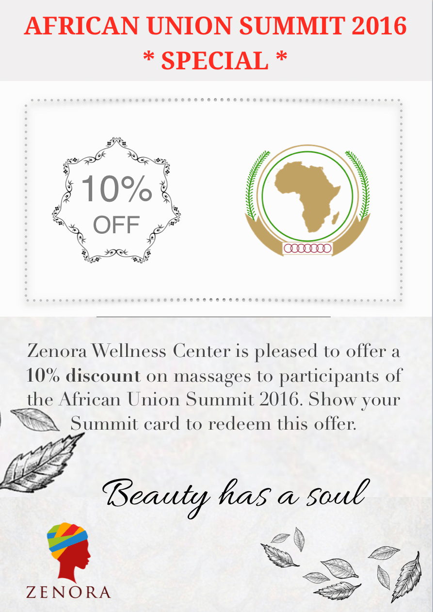 African Union Summit Special Zenora Kigali Massages